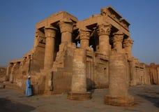 tempel för egypt komombo Arkivfoto