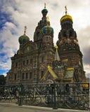tempel för frälsare för blodpetersburg saint Royaltyfri Fotografi