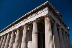 tempel för grek för acropolisareskolonner Fotografering för Bildbyråer