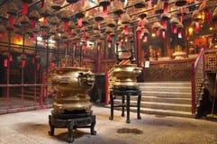 tempel för Hong Kong manmo Arkivbilder
