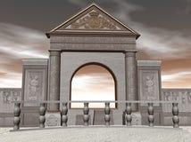 tempel för illustration 3d Arkivbild