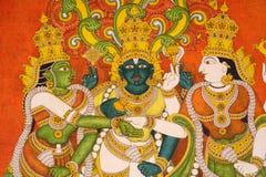 tempel för india meenakshiväggmålningar royaltyfria foton