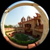 Tempel för ISKCON Delhi Arkivfoton