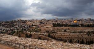 tempel för jerusalem monteringspanorama Arkivfoton