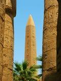 tempel för karnakluxor obelisk Royaltyfria Bilder