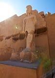 tempel för karnakpharaohstaty Royaltyfria Foton