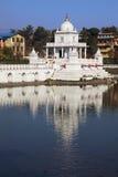 tempel för kathmandu nepal pokharirani Arkivfoto
