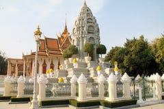 Tempel för kunglig slott i Phnom Penh Royaltyfria Foton