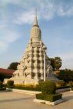 Tempel för kunglig slott i Phnom Penh Fotografering för Bildbyråer