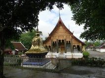 tempel för laos luangprabang Arkivfoto