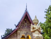 tempel för laos luangprabang Arkivbilder