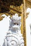 Tempel för lejonstatybakgrund Arkivfoto