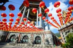 Tempel för Lok koksi Kinesisk tempel Penang Malaysia arkivbilder