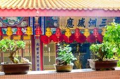 Tempel för Lok koksi Kinesisk tempel Penang Malaysia royaltyfri foto