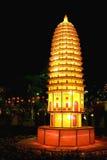 tempel för lyktapagodasongyue Royaltyfri Foto