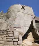 tempel för machupicchusun Royaltyfri Fotografi