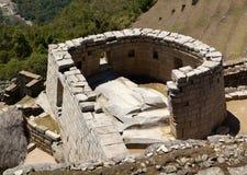 tempel för machupicchusun Fotografering för Bildbyråer