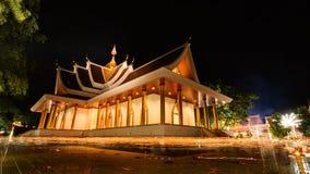 Tempel för PA Pradoo i nattplats Arkivbilder