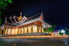 Tempel för PA Pradoo i nattplats Royaltyfria Bilder