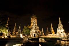 tempel för park för ayutthayachaiwattanaram historiskt Arkivbild