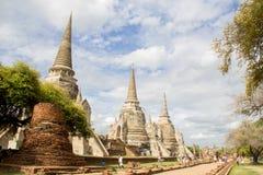 Tempel för Pra srisanphet i Thailand Royaltyfria Foton