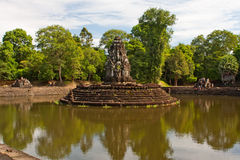 tempel för preah för angkorcambodia neak pean Arkivbild