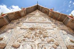 Tempel för sala för montol för Phra maha hakathar jao, Lamphun Thailand Fotografering för Bildbyråer