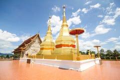 Tempel för sala för montol för Phra maha hakathar jao, Lamphun Thailand Arkivfoton