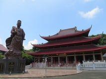 Tempel för Sam bajskong i semarang fotografering för bildbyråer
