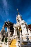 Tempel för San PA Yang Luang i det Lamphun landskapet arkivfoton