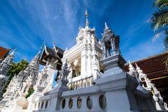 Tempel för San PA Yang Luang i det Lamphun landskapet fotografering för bildbyråer