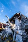 Tempel för San PA Yang Luang i det Lamphun landskapet arkivbild