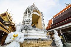Tempel för San PA Yang Luang i det Lamphun landskapet arkivfoto