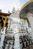 Tempel för San PA Yang Luang i det Lamphun landskapet royaltyfri foto