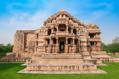 Tempel för Sas Bahu Arkivbild