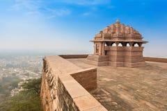Tempel för Sas Bahu fotografering för bildbyråer