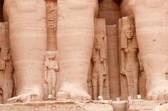 tempel för simbel för abuegypt ii ramses fotografering för bildbyråer