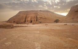 tempel för simbel för abuegypt ii ramses arkivfoto