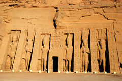 tempel för simbel för drottning för abuegypt nefertari Arkivbild