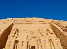 tempel för simbel för ramses ii för abu stort Royaltyfri Bild