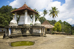 tempel för sri för gadaladeniyakandy lanka Arkivfoton