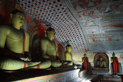 tempel för sri för grottadambullalanka Fotografering för Bildbyråer