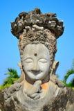 Statybuddism i thailand Arkivbilder