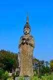 Statybuddism i thailand Royaltyfria Foton