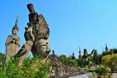 Statybuddism i thailand Royaltyfri Fotografi