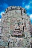 tempel för sten för framsida för angkorområdesbayon Fotografering för Bildbyråer