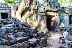 Tempel för Ta Prohm Royaltyfria Bilder
