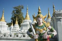 TEMPEL FÖR THAILAND LAMPANG WAT CHEDI SAOLANG Fotografering för Bildbyråer