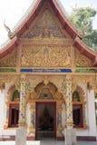 TEMPEL FÖR THAILAND PHAYAO WAT SI KHOM KHAN Arkivbild