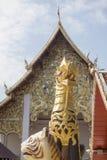 TEMPEL FÖR THAILAND PHAYAO WAT SI KHOM KHAN Arkivfoton